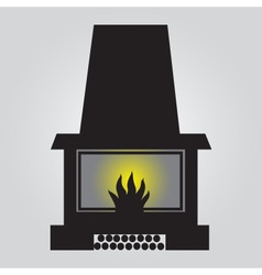 simple fireplace icon eps10 vector image