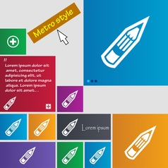 Pencil icon sign buttons modern interface website vector