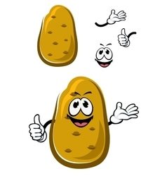 Cartoon fresh brown potato vegetable vector