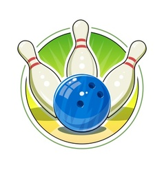 Bowling ball and skittles for vector