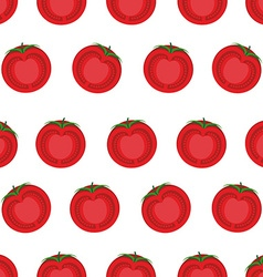 Slice tomato seamless pattern background from vector