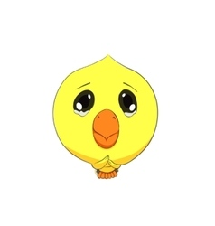 Cute chick character vector