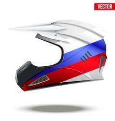 Russia flag on motorcycle helmets vector