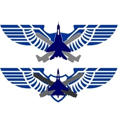 Badges air force vector