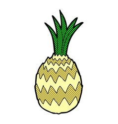 Comic cartoon pineapple vector