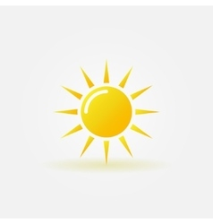 Sun icon or logo vector image
