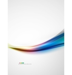 Rainbow color glossy silk elegant wave vector