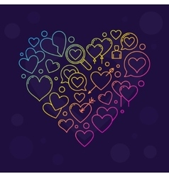 Heart shape sign vector