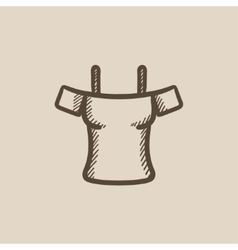 Female shirt sketch icon vector