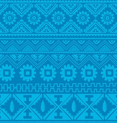 Soft blue native american ethnic pattern vector