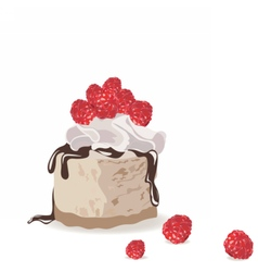 A piece of delicious cake vector