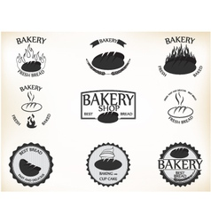 Bakery labels and badges with retro vintage style vector