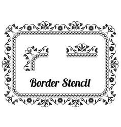 Border stencil vector