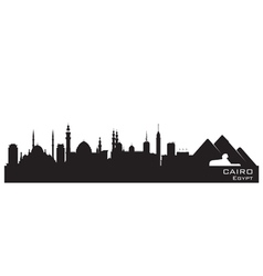 Cairo egypt skyline detailed silhouette vector