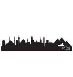 Cairo Egypt skyline Detailed silhouette vector image vector image