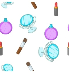 Cosmetics pattern cartoon style vector