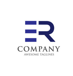 Creative letter re logo vector