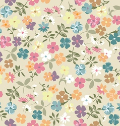 cute vintage ditsy background vector image