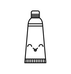 Dental toothpaste kawaii character vector