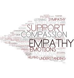 Empathy word cloud concept vector