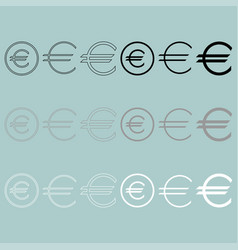Euro sign simple and in round icon euro sign vector