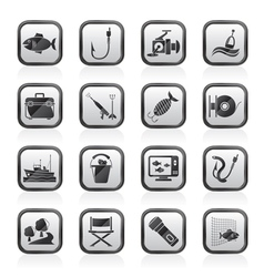 Fishing industry icons vector