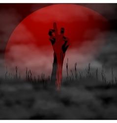Halloween Zombie hand on vector image