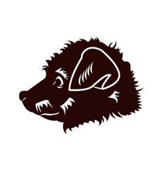 happy puppy abstract dog logo design vector image vector image