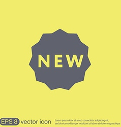 label new symbol of the new icon novelty vector image vector image