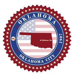 Label sticker cards of state oklahoma usa vector