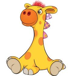 Little toy giraffe vector image vector image