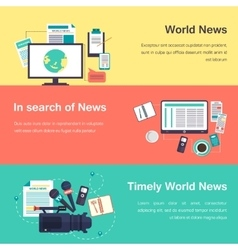 media objects World news vector image vector image