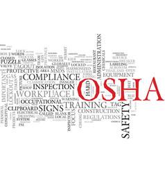 Osha word cloud concept vector