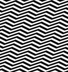 Seamless black white chevron pattern vector image