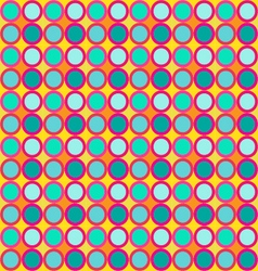 Seamless round circle pattern vector image vector image