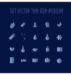 Set thin icon healthcare vector image
