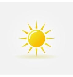 Sun icon or logo vector image