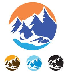 symbol of mountains vector image vector image