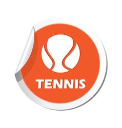 Tennis orange label vector