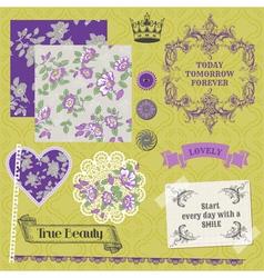 Vintage Violet Roses vector image vector image