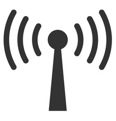 Wi-fi station flat icon vector