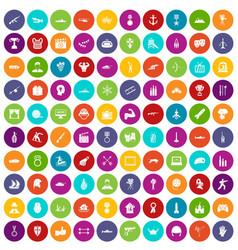 100 hero icons set color vector