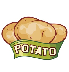 Potato label design vector