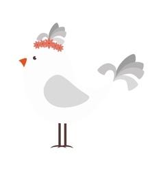 bird elegant clothes cartoon vector image