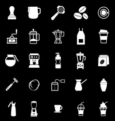 Barista icon on black background vector