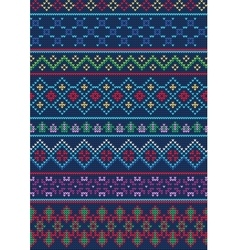 Ugly sweater pattern 1 vector