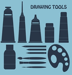 Collection of drawing tools for your design vector