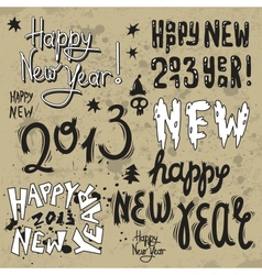 Happy new year 2013 grunge text vector