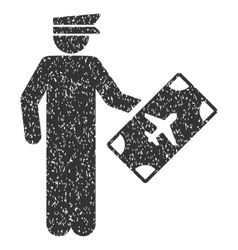 Officer icon rubber stamp vector