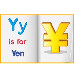 The currency yen vector